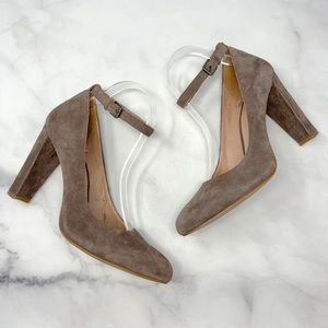 Madewell Cara Suede Mary-Jane Block Heel Pumps 9.5
